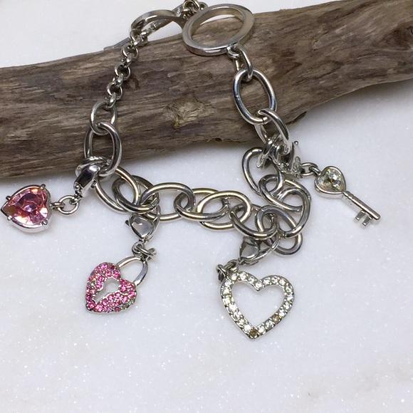My Heart Charm Bracelet with Swarovski Crystals